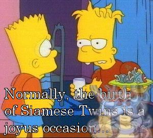 Normally, the birth of siamese twins is a joyus occasion...
