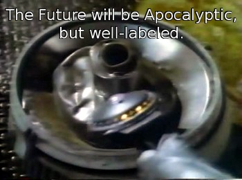 The future will be apocalyptic, but well-labeled.